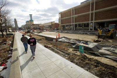 Centennial Mall construction