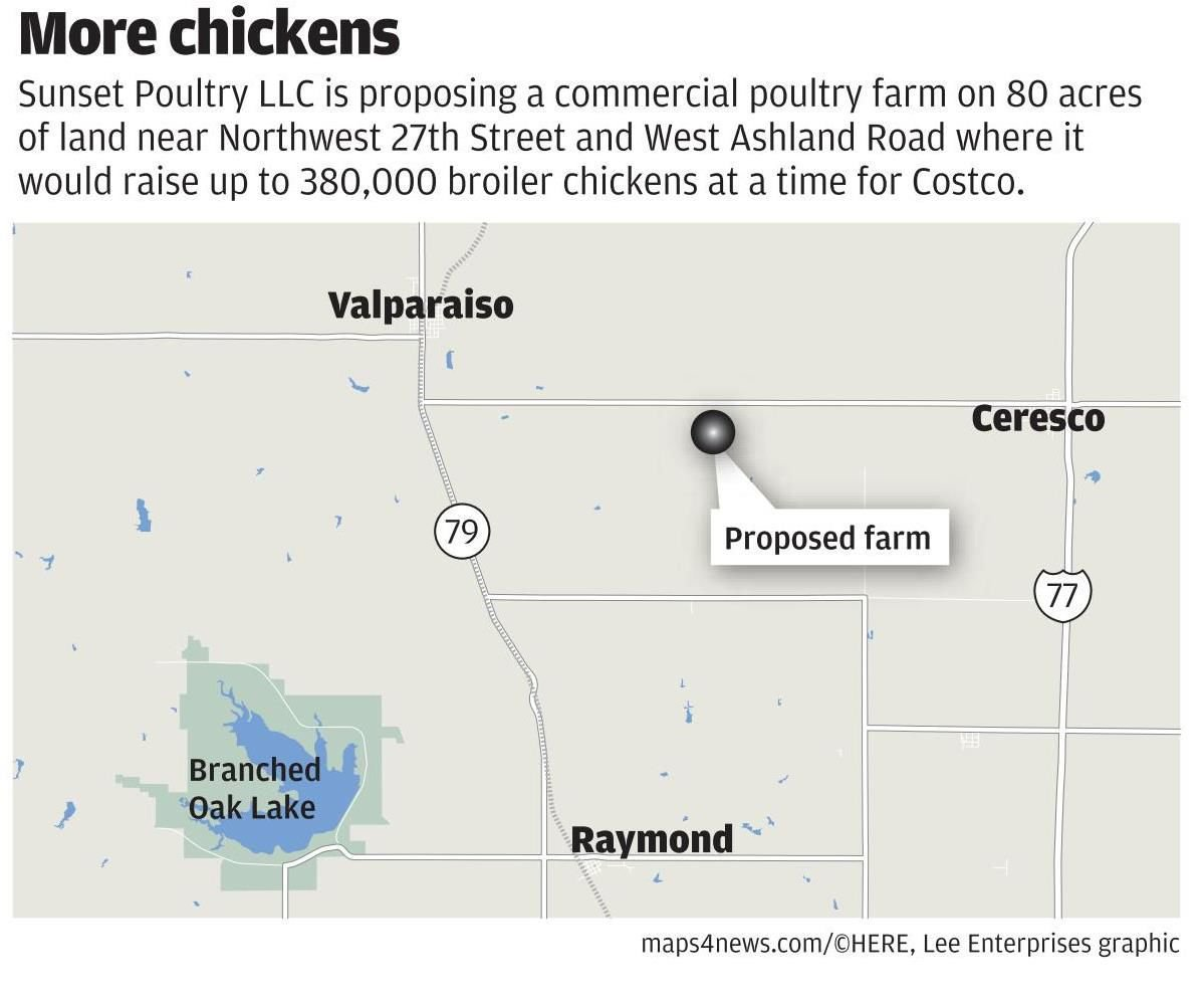 Proposed chicken farm