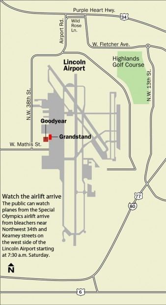 Fly-in map