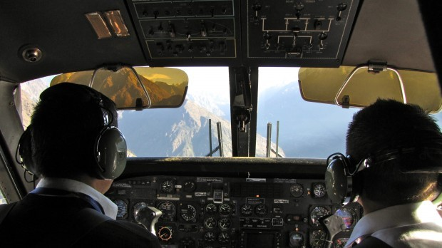 The Lukla airplane interior