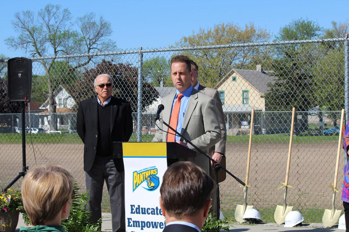 Nick Dean and Ryan Zabawa at Girls and Boys Club groundbreaking