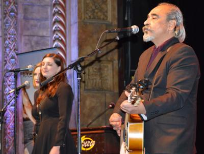 Gerardo Meza performs with Hanna Bendler, Kimberly Moser