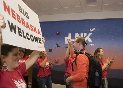 Fan greet at Lincoln Airport