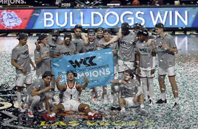 APTOPIX WCC Championship Basketball