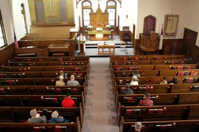 Image result for image of church service in germany with many empty pews