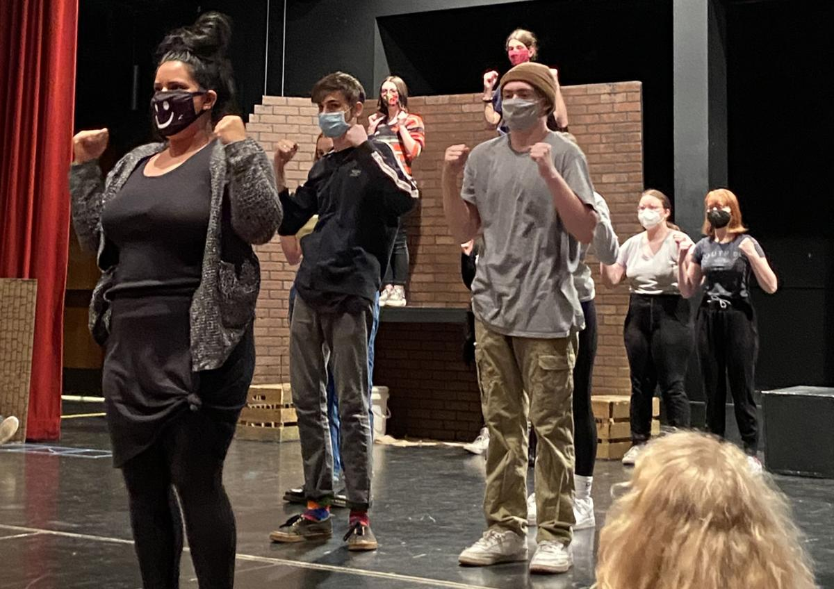 """Lincoln High Theater cast members rehearse """"Godspell"""""""