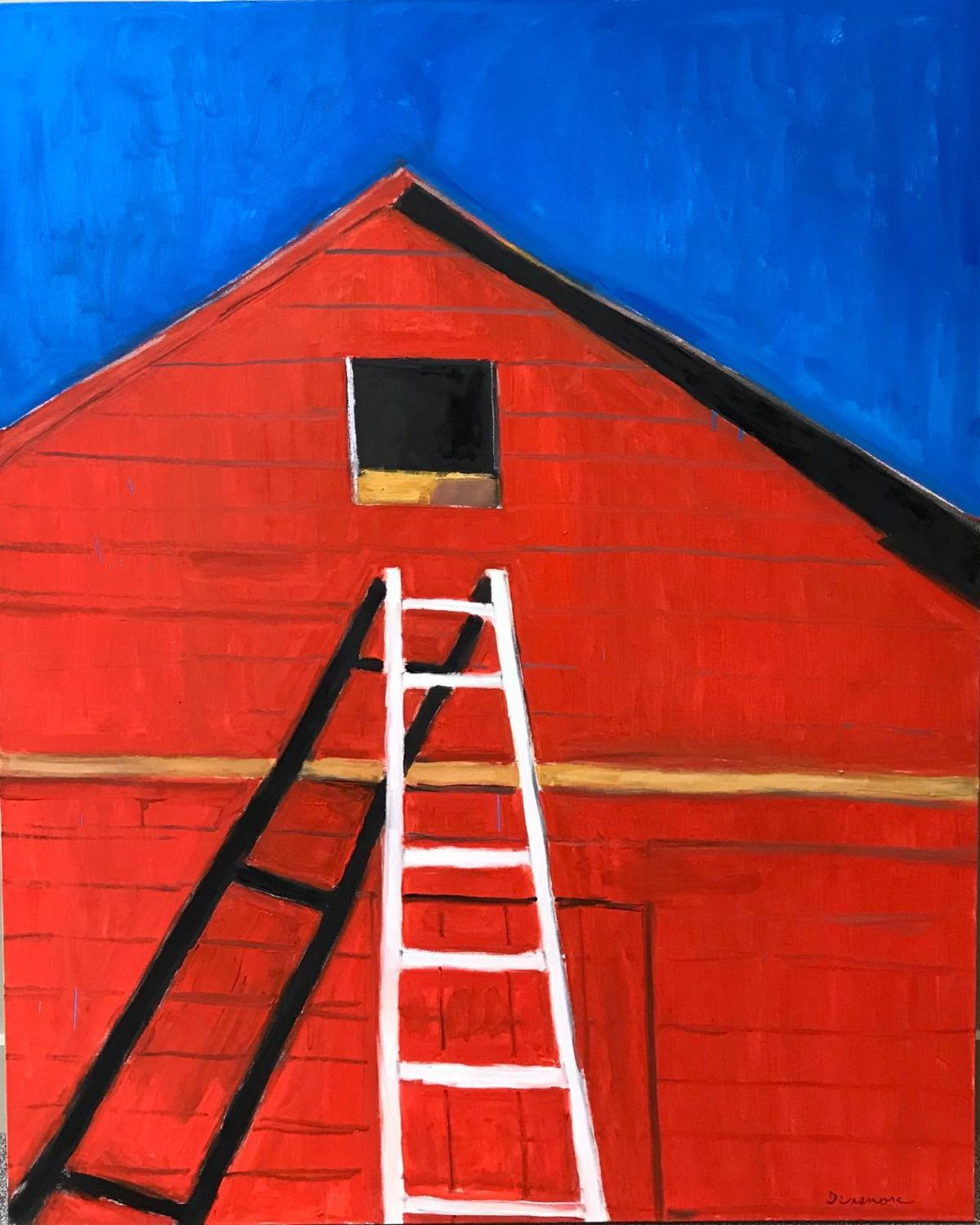 Red Barn and Ladder
