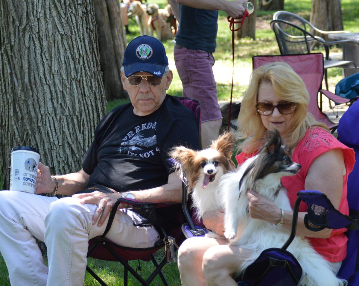 Bob and Lela Lee with Papillons Razzi and Whiskey