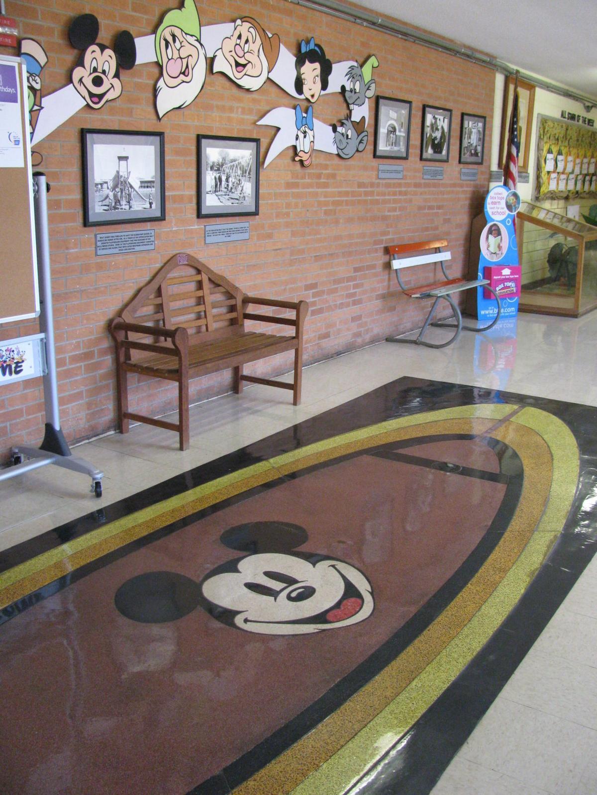 Walt Disney Elementary School lobby