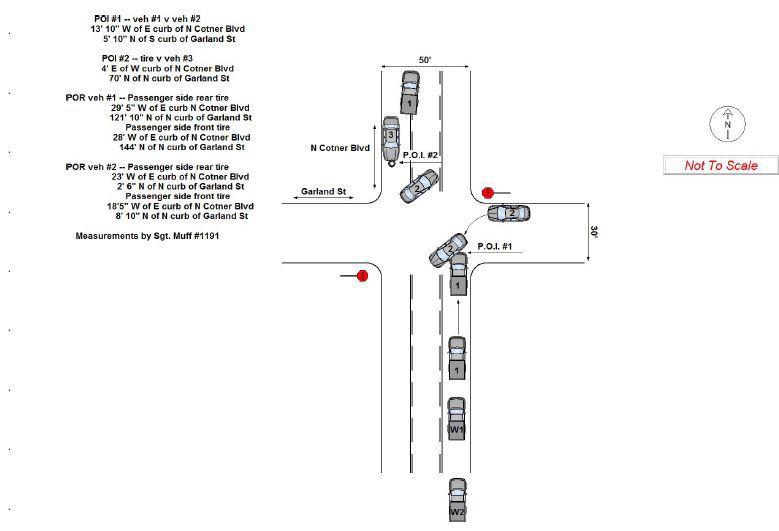 Camden King fatality crash diagram