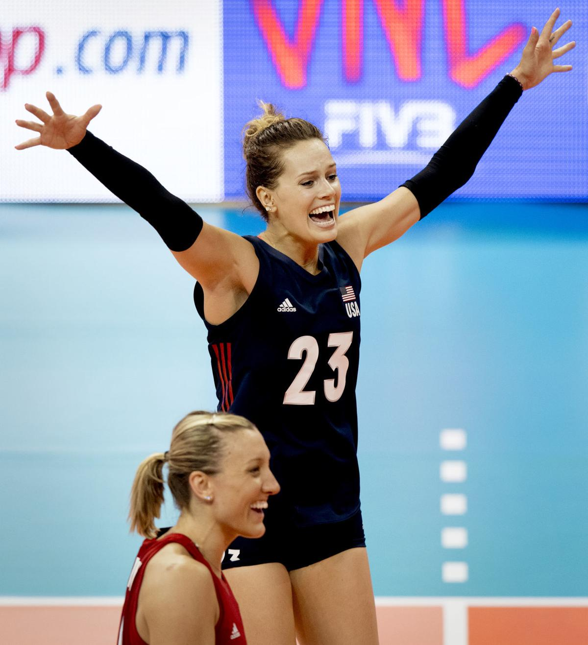 USA volleyball vs. Italy, 5/17/18