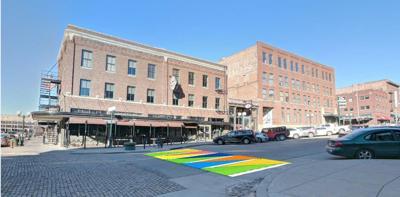 Crosswalk street mural
