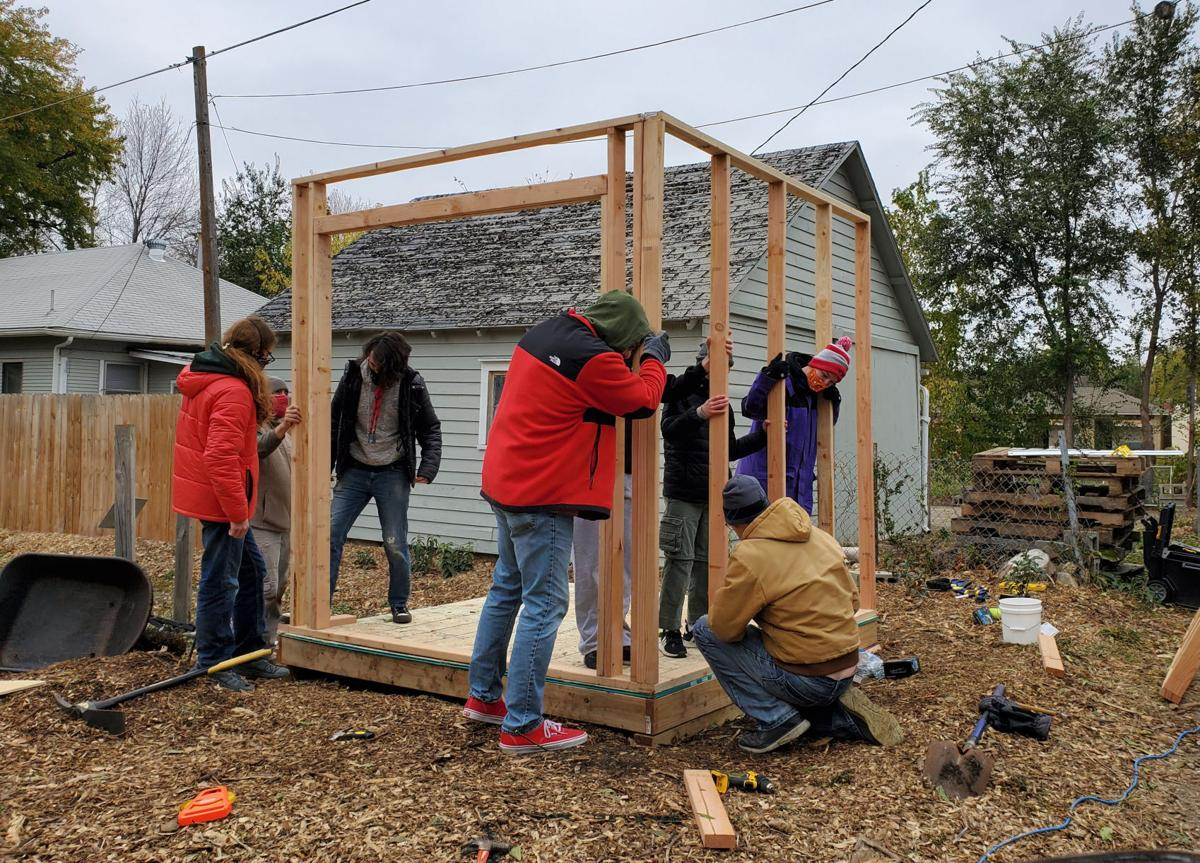Scouts build Hudson garden shed