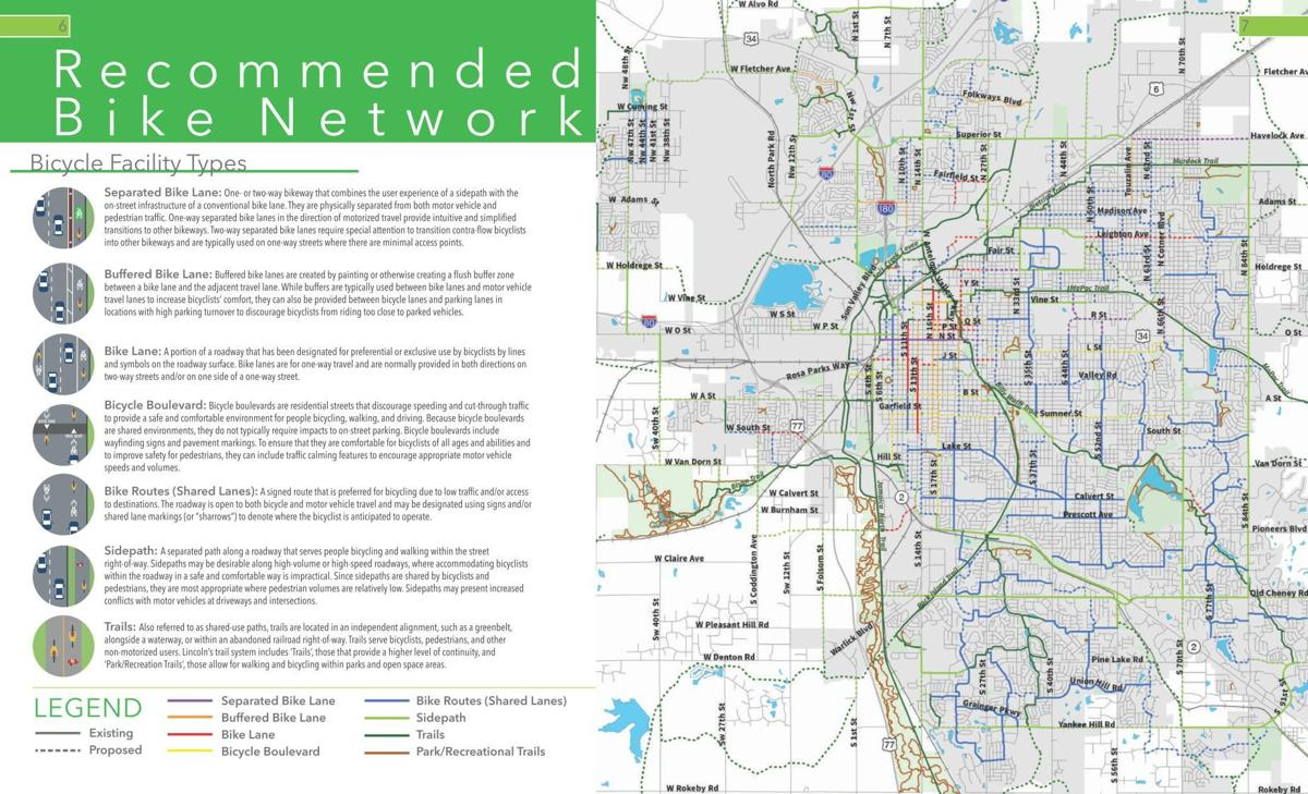 Bike plan: Recommended bike network
