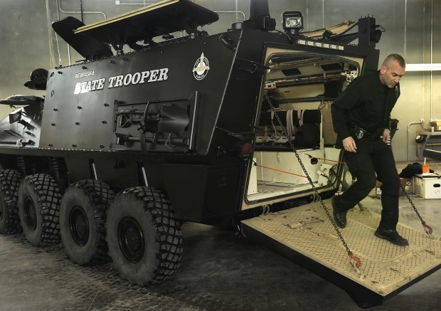 Nebraska State Patrol trains in light armored vehicles