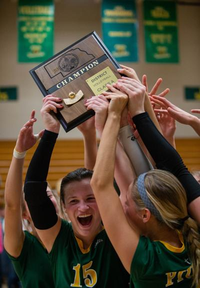 Lincoln Pius X vs. Lincoln East volleyball, 10/31
