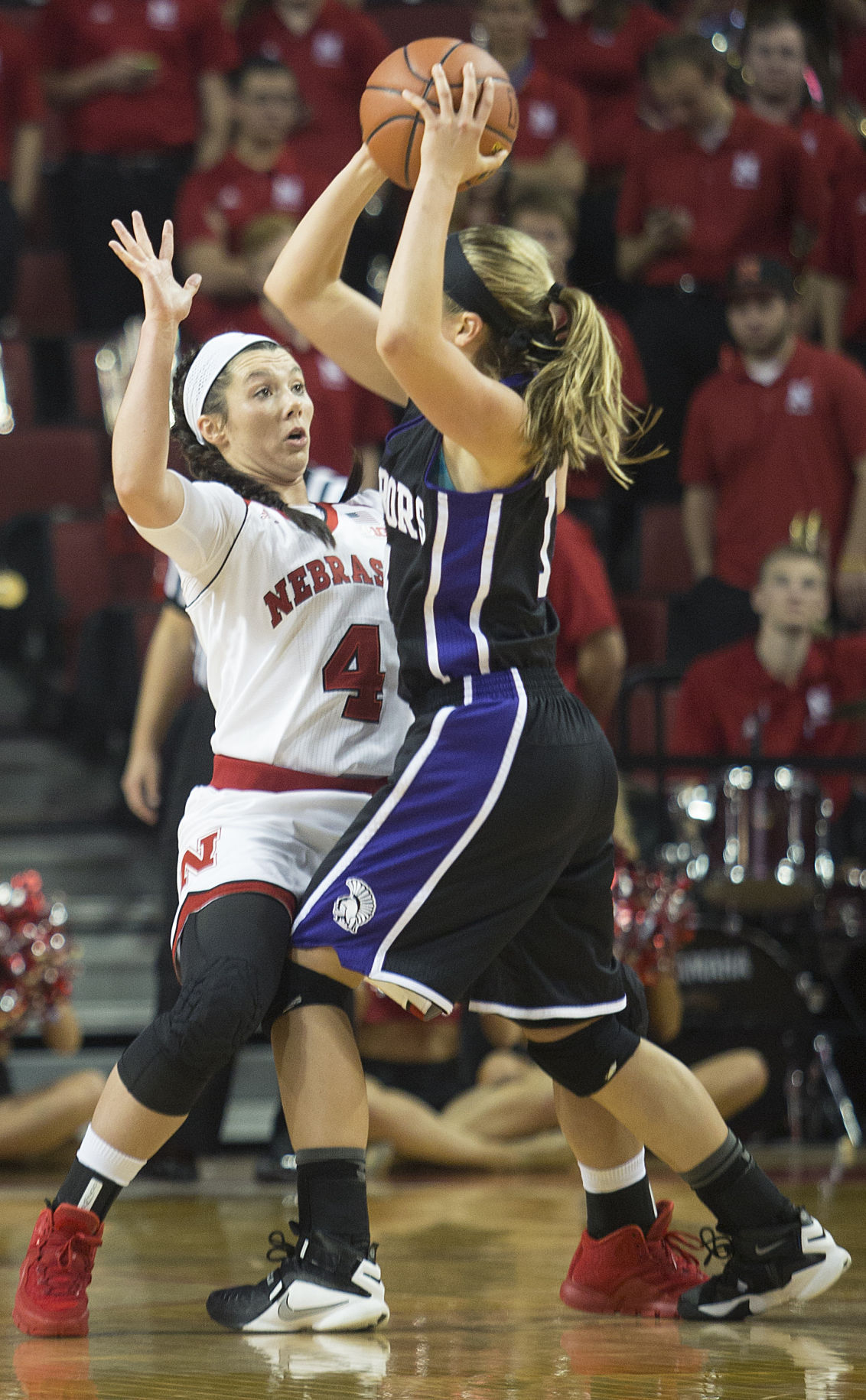 Women's basketball, Winona State vs. Nebraska, 11.08.15