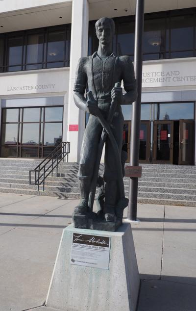 'Young Lincoln' statue by City-County building