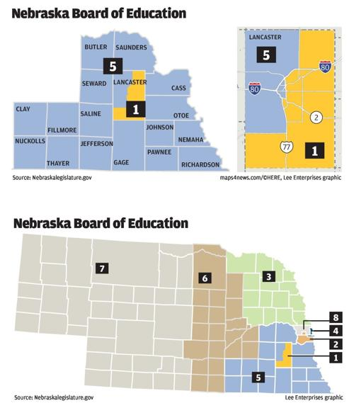 Nebraska Board of Education districts