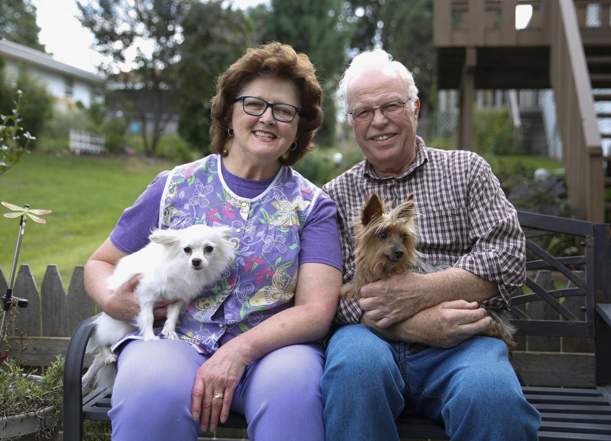 Bob and Kathy Helfer with dogs Herbie and Starlet