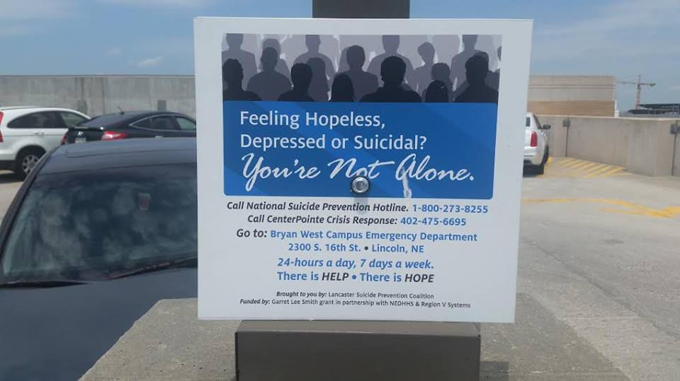 Suicide prevention sign