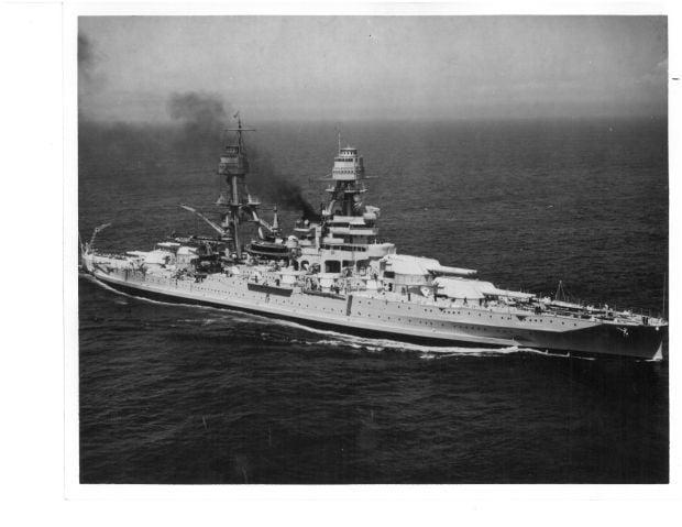 USS Arizona at sea