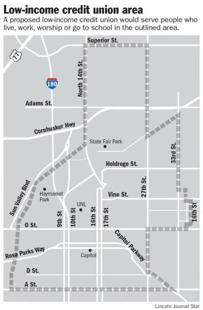 Map of credit union area