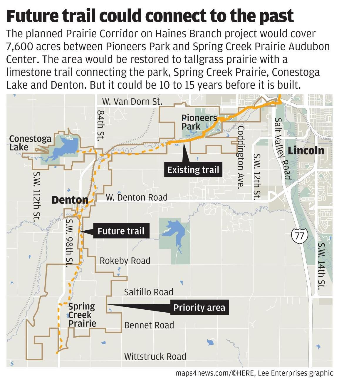 Prairie Corridor map