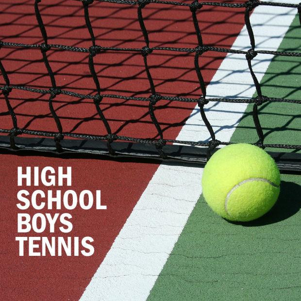 High school boys tennis logo 2014