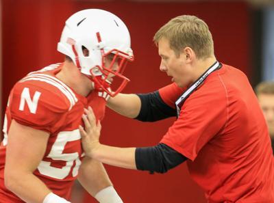 Nebraska Practice Football