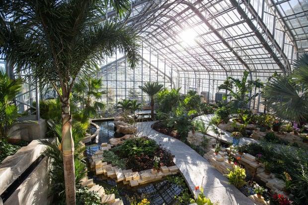 Lauritzen Gardens Conservatory is a clear winner