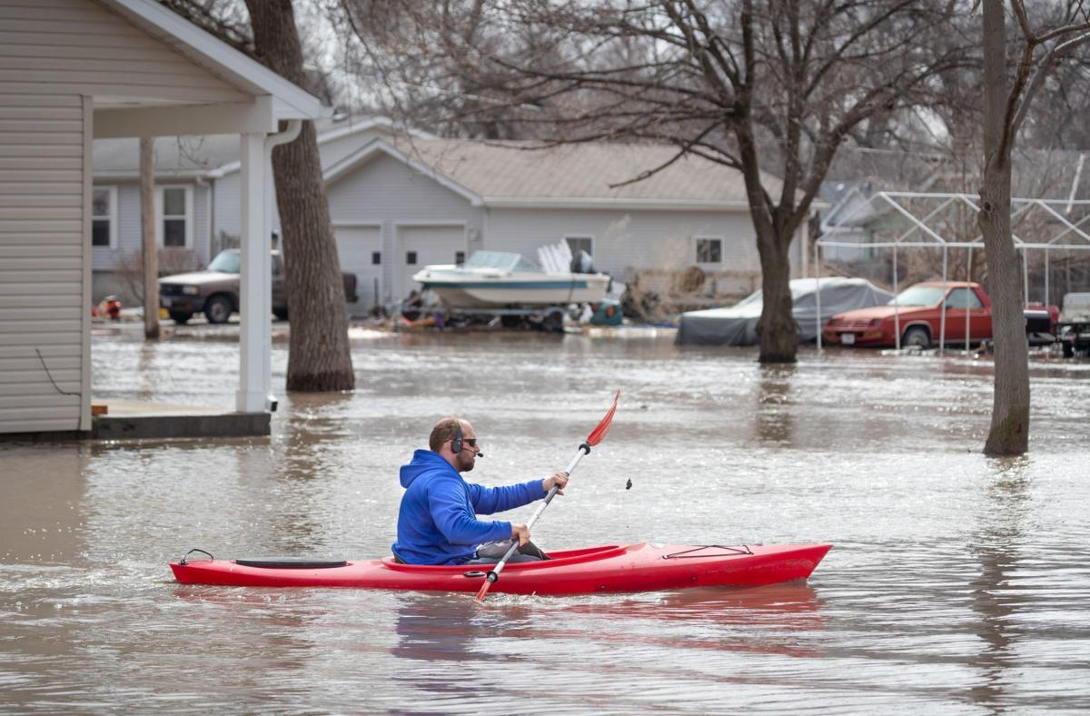 As the Platte River swelled into Fremont, the city became an island
