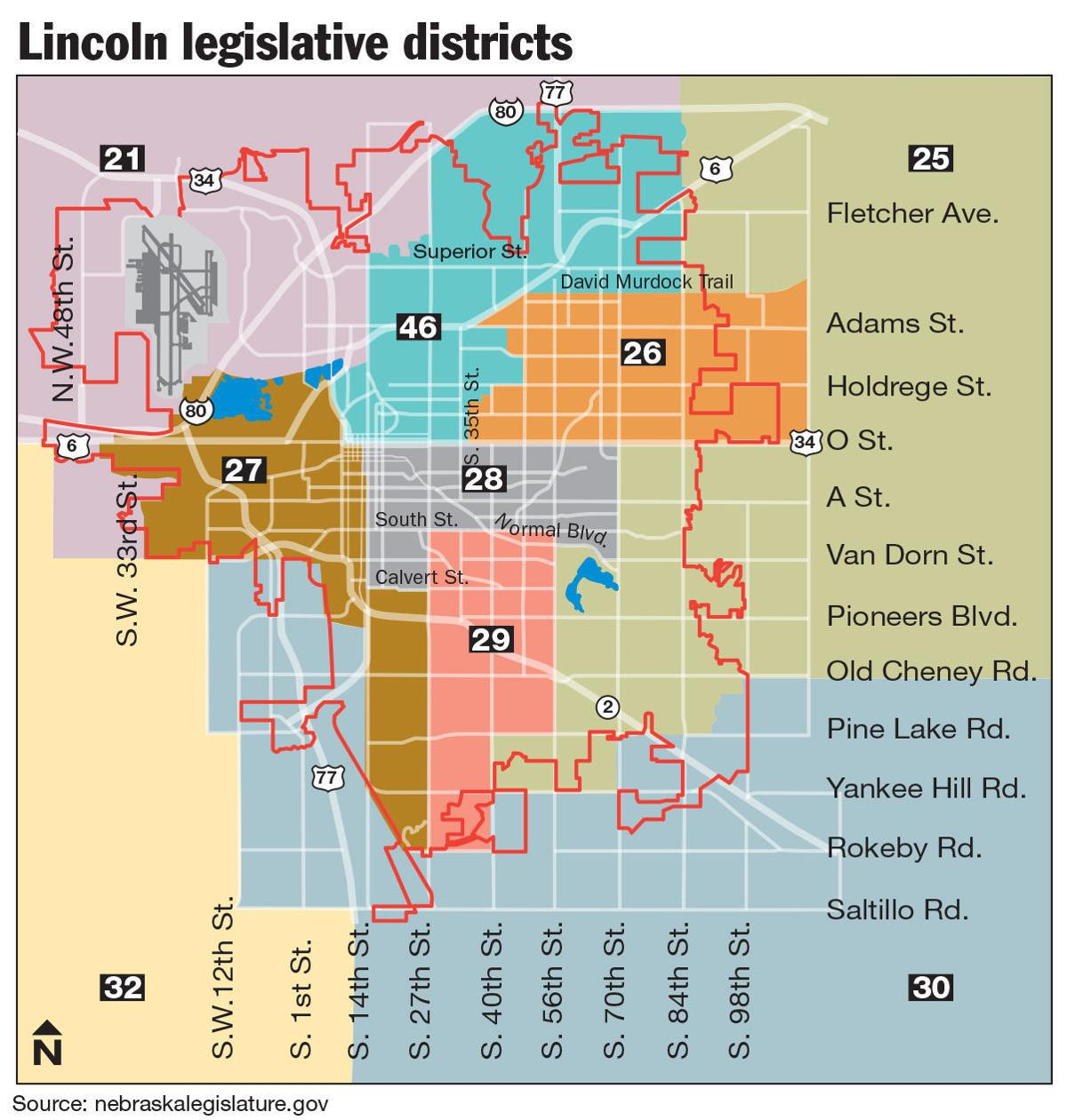 Legislative district map