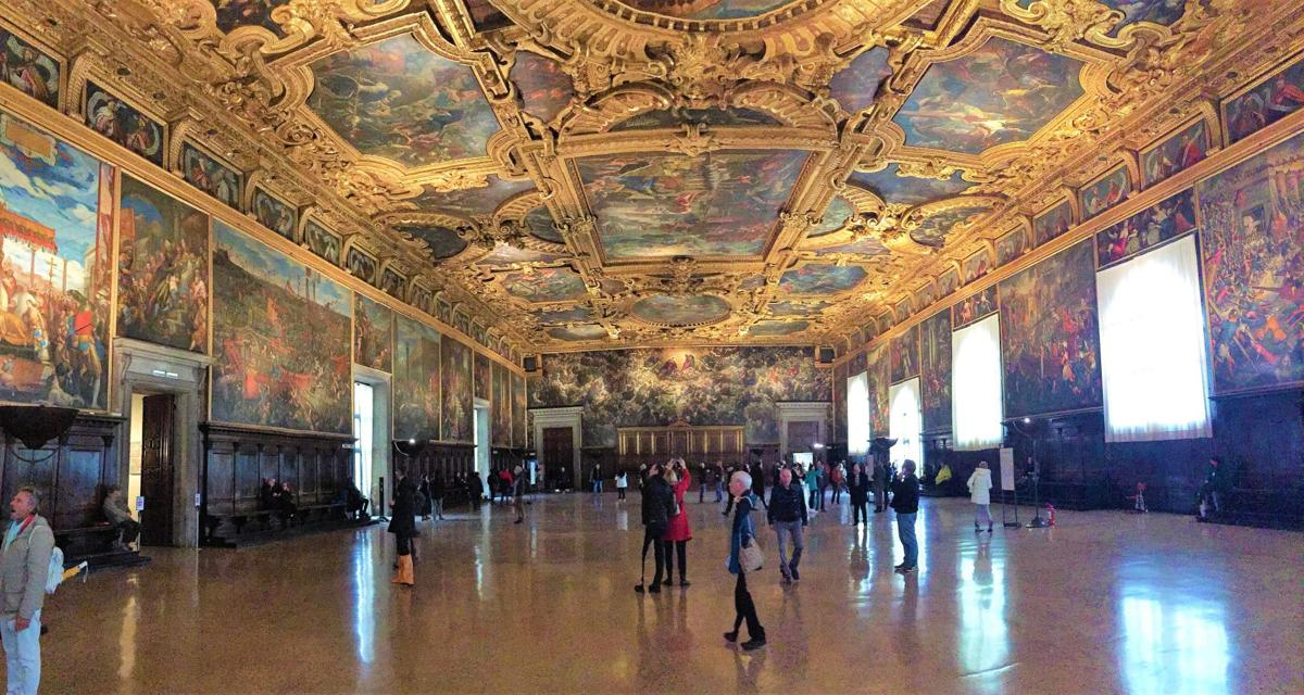 Hall of the Great Council in the Doge's Palace, Venice Italy