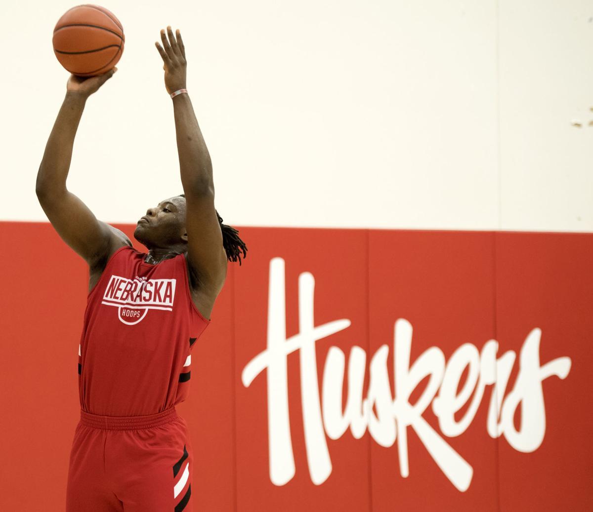 Nebraska hoops practice, 9.25