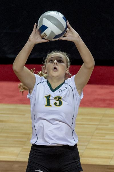 Class A state volleyball, Pius X vs. PLVS, 11.8