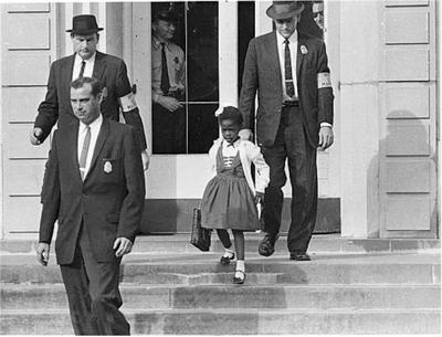 Ruby Bridges being escorted