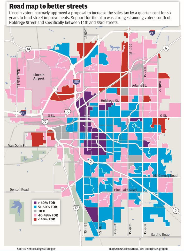 Precinct map, sales tax vote
