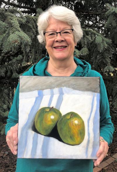 Deborah Eagan with painting