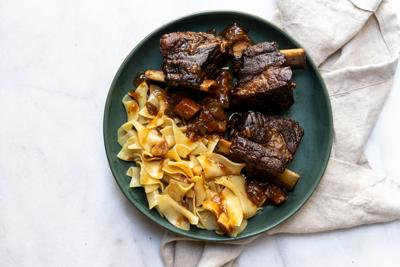 These wine-braised, bone-in beef short ribs are sure to make your mouth water