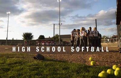 High school softball logo