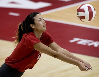 Nebraska Volleyball Spring Practice, 3.29