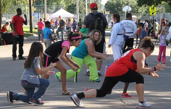 Street aerobics at 'Streets Alive!'
