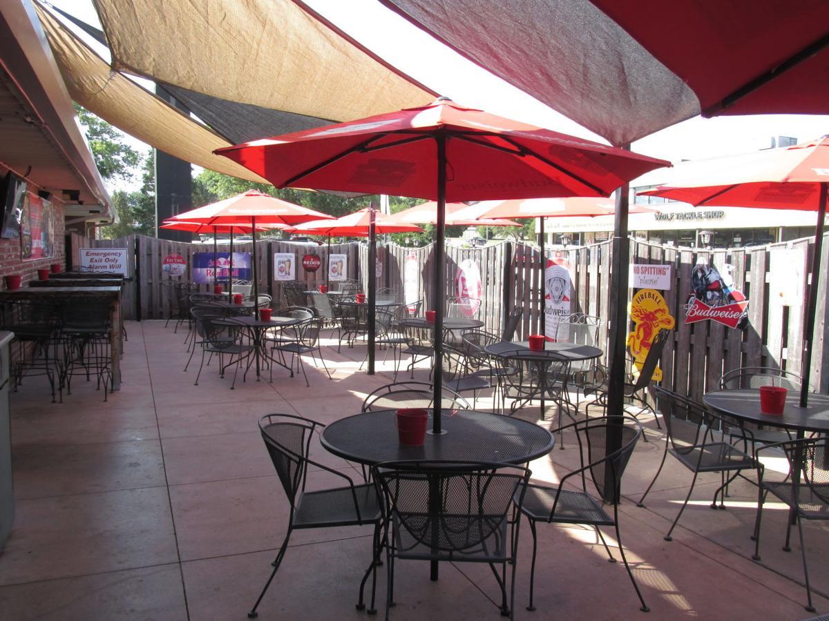 The Garage's patio