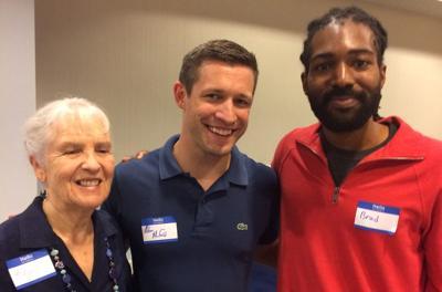 Karen Kienstbier, Sen. Adam Morfeld, Brad Christian-Sallis