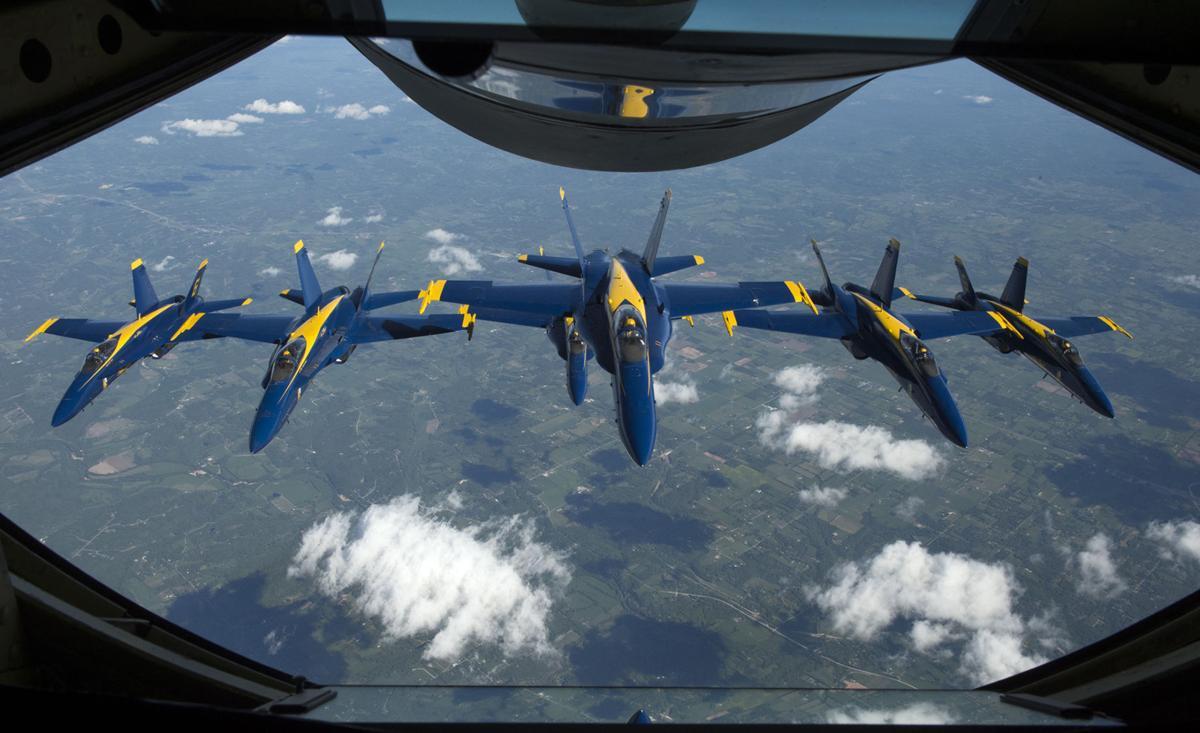 Blue Angels escort