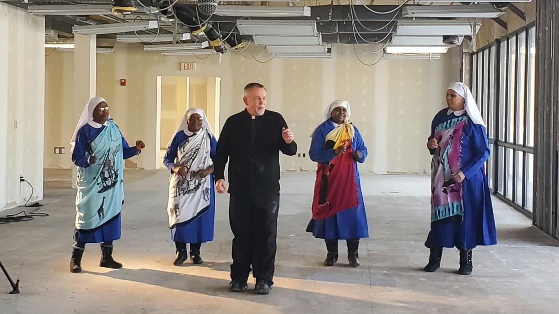 Watch Now: Omaha priest, four Tanzanian nuns show off their dance moves