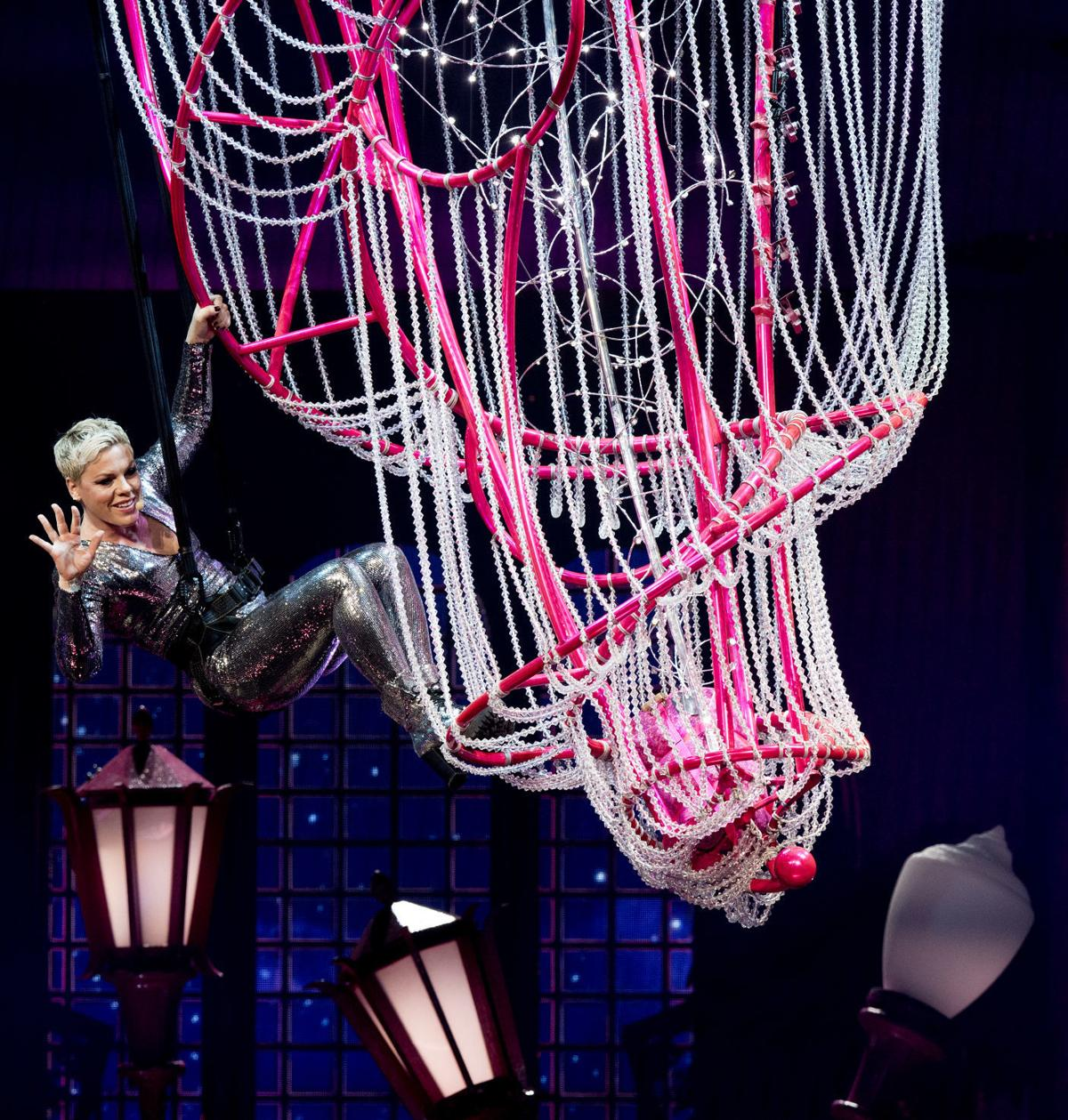 Pink performs in Lincoln