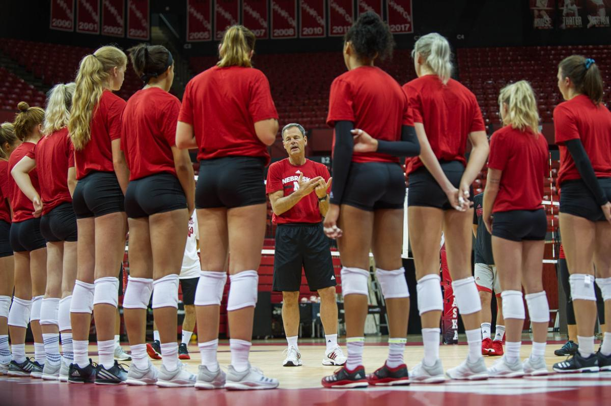 NU volleyball practice, 8/8/18