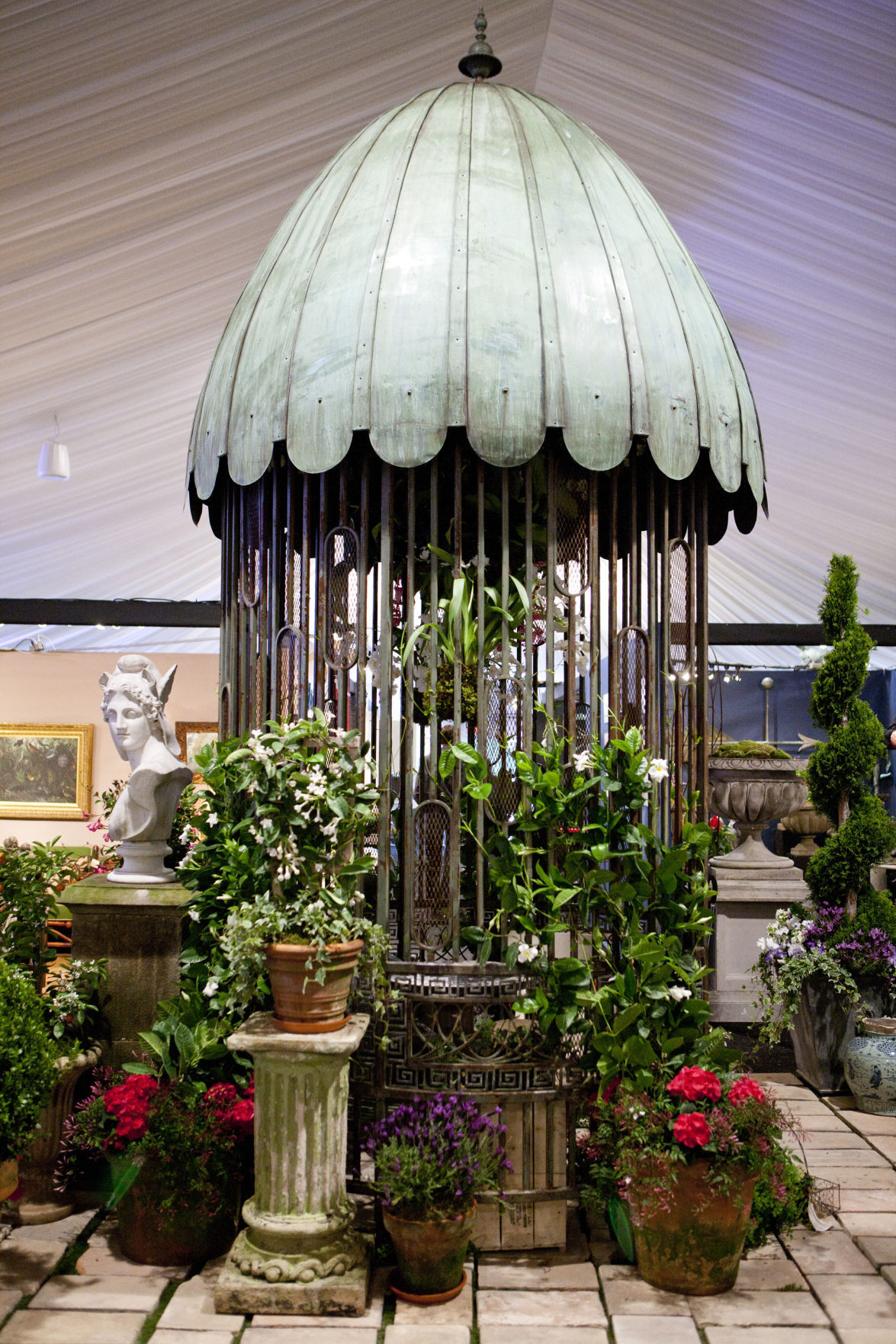 garden antiques. Pictured Here Are Garden Antiques From The Recent Antique Furniture Fair At New York Botanical In Bronx, York.